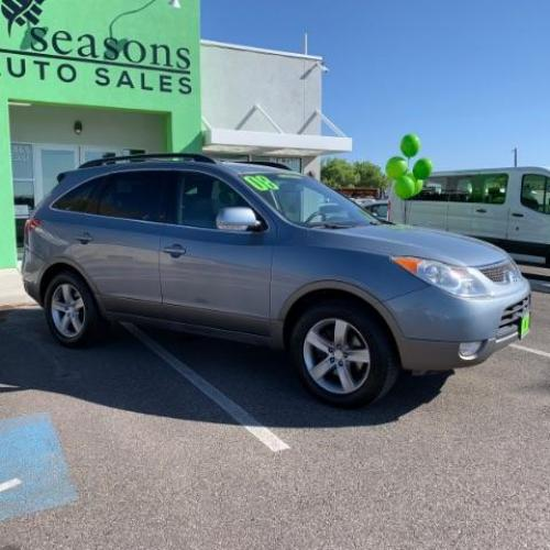 2008 Blue Titanium Metall /Gray Cloth Interior Hyundai Veracruz SE (KM8NU13C68U) with an 3.8L V6 DOHC 24V engine, 6-Speed Automatic transmission, located at 1865 East Red Hills Pkwy, St. George, UT, 84770, (435) 628-0023, 37.120850, -113.543640 - Photo #0