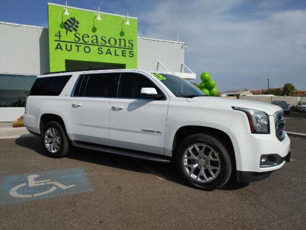 2018 Summit White GMC Yukon XL SLT 4WD (1GKS2GKC8JR) with an 5.3L V8 OHV 16V engine, 6-Speed Automatic transmission, located at 1865 East Red Hills Pkwy, St. George, UT, 84770, (435) 628-0023, 37.120850, -113.543640 - Photo #0