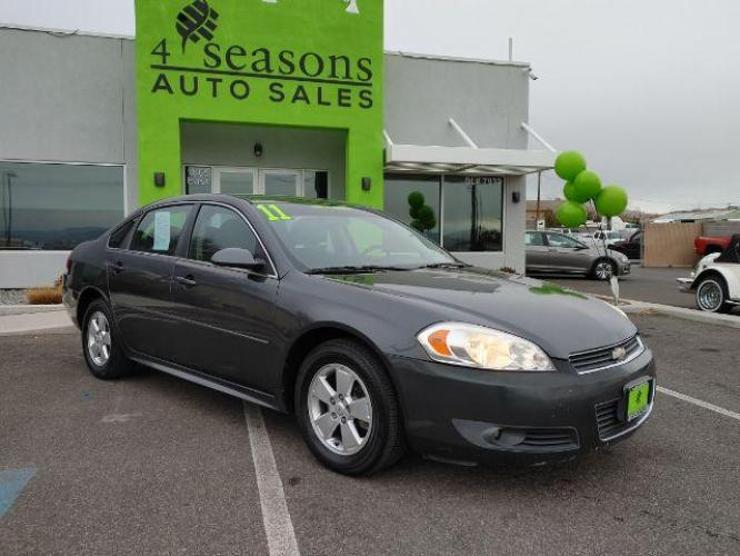 2011 Cyber Gray Metallic Chevrolet Impala LT (2G1WG5EK2B1) with an 3.5L V6 OHV 16V FFV engine, 4-Speed Automatic transmission, located at 1865 East Red Hills Pkwy, St. George, UT, 84770, (435) 628-0023, 37.120850, -113.543640 - Photo #0