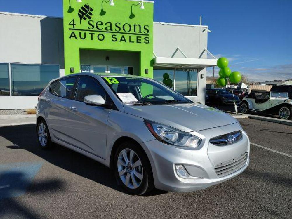 2013 Ironman Silver Metallic Hyundai Accent SE 5-Door (KMHCU5AE9DU) with an 1.6L L4 DOHC 16V engine, located at 1865 East Red Hills Pkwy, St. George, UT, 84770, (435) 628-0023, 37.120850, -113.543640 - Photo #0