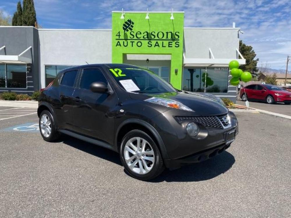 2012 Gun Metallic /Black Cloth Interior Nissan Juke S FWD (JN8AF5MR4CT) with an 1.6L L4 DOHC 16V TURBO engine, Continuously Variable Transmission transmission, located at 1865 East Red Hills Pkwy, St. George, UT, 84770, (435) 628-0023, 37.120850, -113.543640 - Photo #0