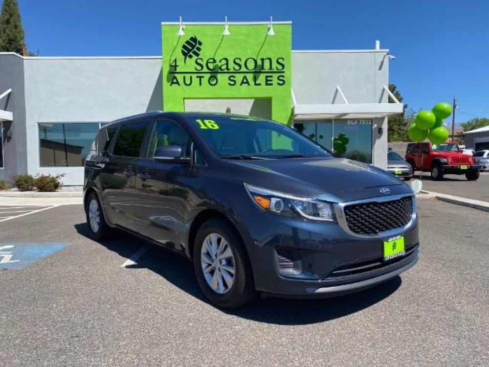 2016 Aurora Black Kia Sedona LX (KNDMB5C17G6) with an 3.3L V6 DOHC 24V engine, 6-Speed Automatic transmission, located at 1865 East Red Hills Pkwy, St. George, UT, 84770, (435) 628-0023, 37.120850, -113.543640 - Photo #0