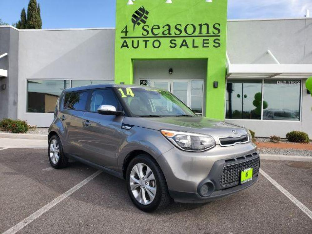 2014 Cloud Kia Soul + (KNDJP3A50E7) with an 2.0L L4 DOHC 16V engine, 6-Speed Automatic transmission, located at 1865 East Red Hills Pkwy, St. George, UT, 84770, (435) 628-0023, 37.120850, -113.543640 - Photo #0