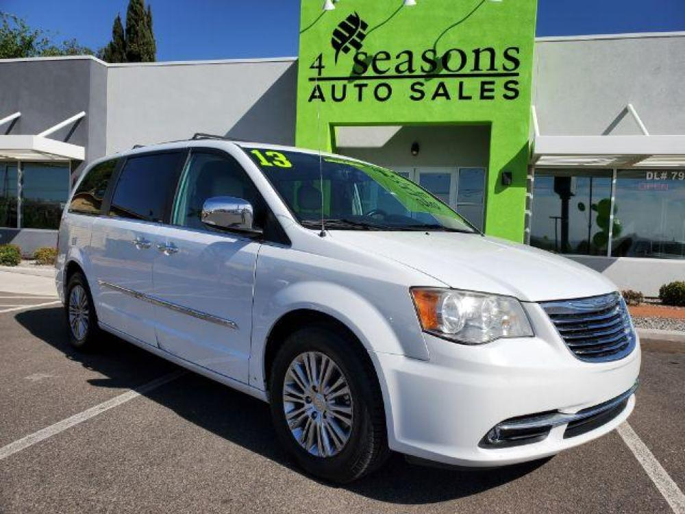 2013 Stone White /Light Graystone Leather Interior Chrysler Town and Country Touring-L (2C4RC1CG8DR) with an 3.6L V6 DOHC 24V engine, 6-Speed Automatic transmission, located at 1865 East Red Hills Pkwy, St. George, UT, 84770, (435) 628-0023, 37.120850, -113.543640 - Photo #0