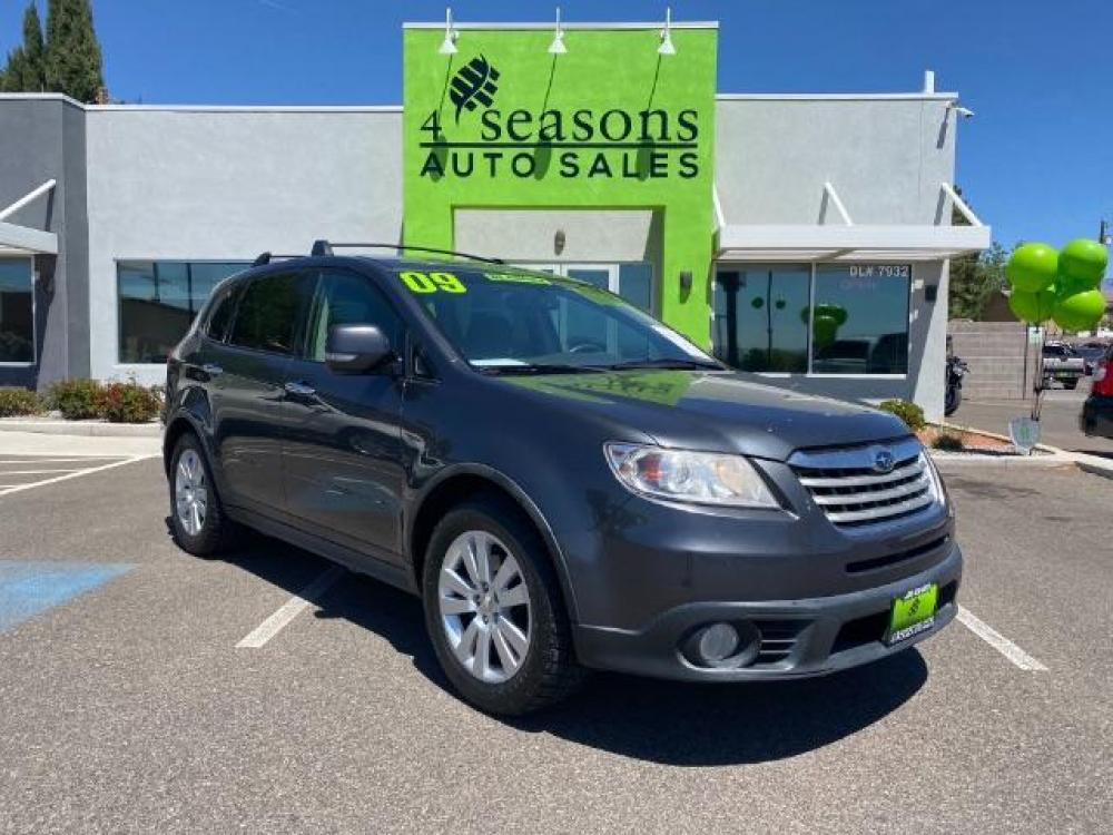 2009 Diamond Gray Metallic /Slate Gray Leather Interior Subaru Tribeca Limited 7-Passenger (4S4WX97D394) with an 3.6L H6 DOHC 24V engine, 5-Speed Automatic transmission, located at 1865 East Red Hills Pkwy, St. George, UT, 84770, (435) 628-0023, 37.120850, -113.543640 - Photo #0